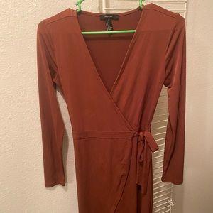 V-Cut Long Formal Dress
